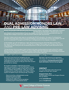Dual Admission Honors Law